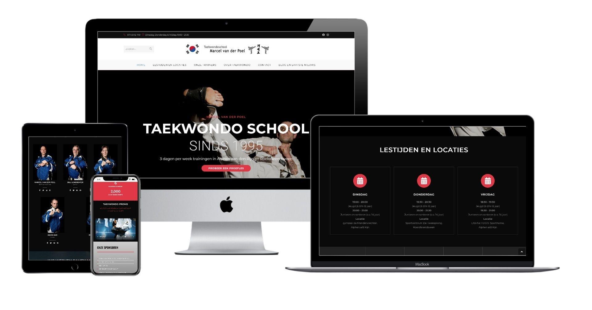 Website Taekwondoschool Marcel van der Poel