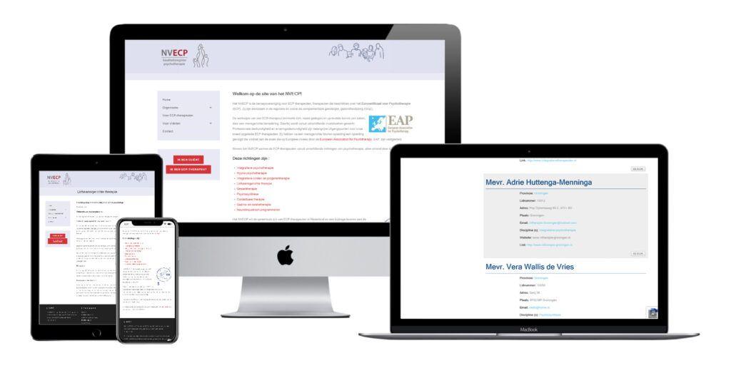 Website voor NVECP