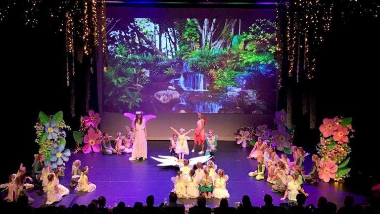 Elfen omgeving als achtergrond video bij theatershow