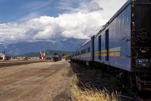 Treinen vlakbij grens naar Canada