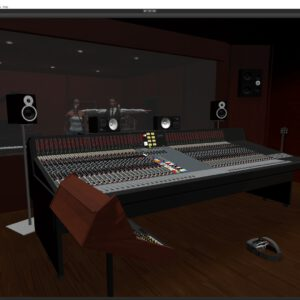 Overview virtual reality recording studio