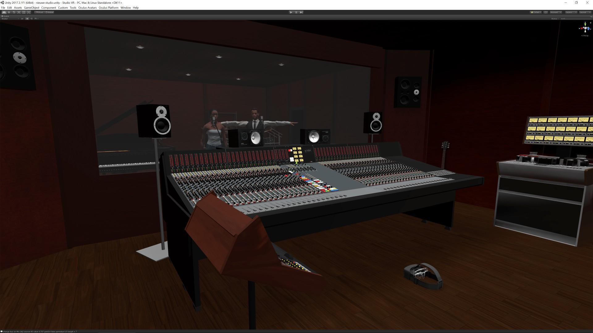 Overview virtual reality recording studio