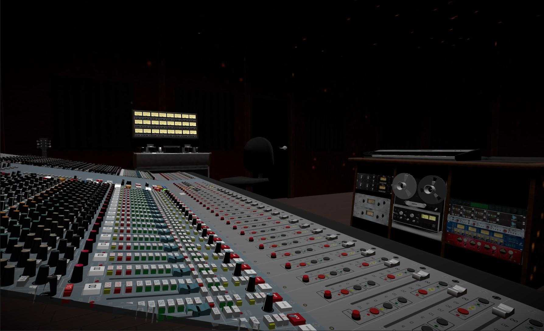 Studer and AMS Neve Recording Equipment in virtual reality recording studio