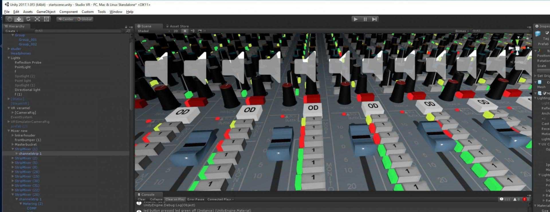 Building the VR Studio 2 sound sources per channel