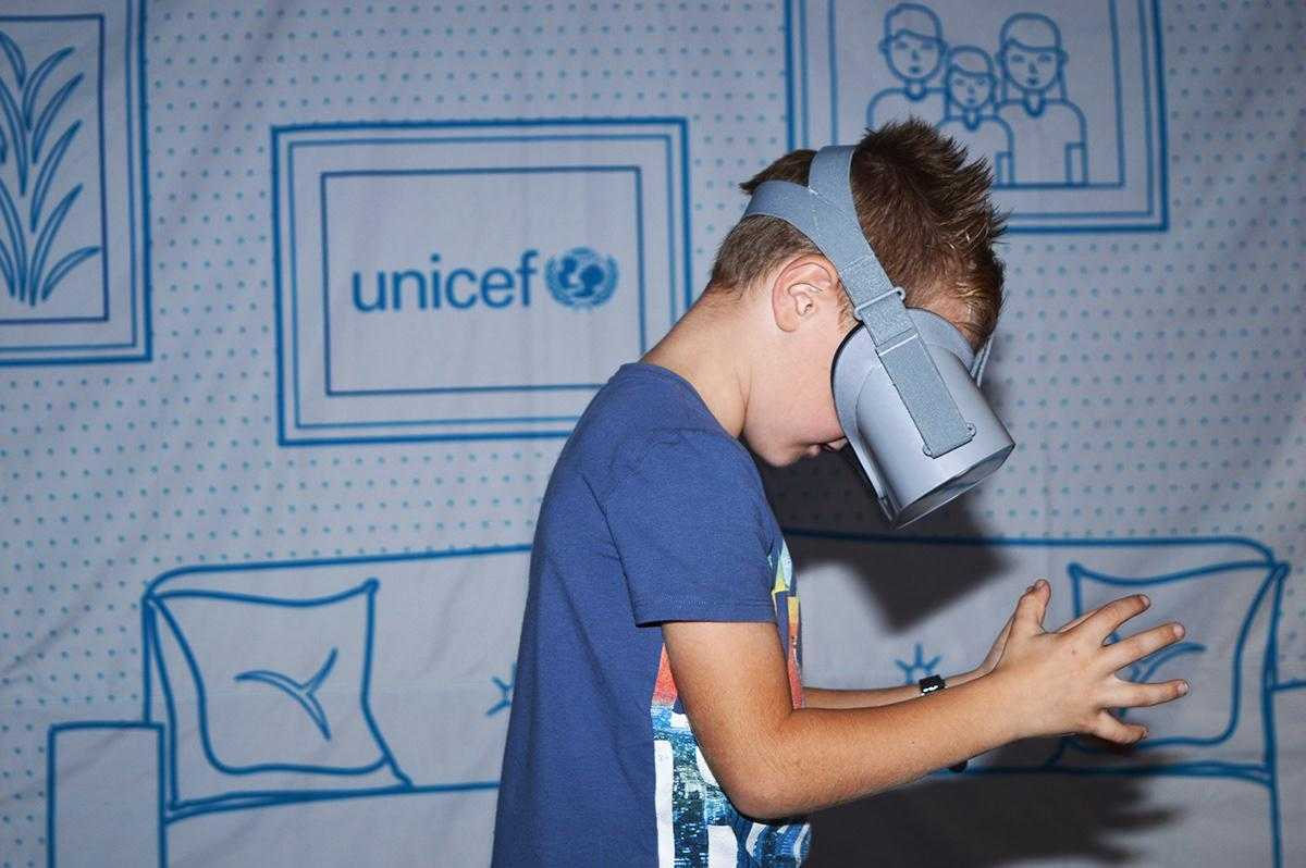 Julia Unicef VR experience