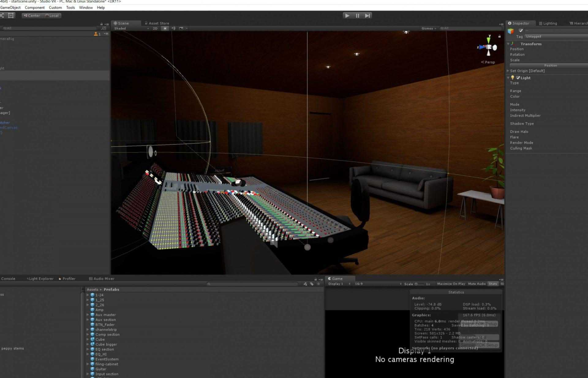 BTS VR recording studio
