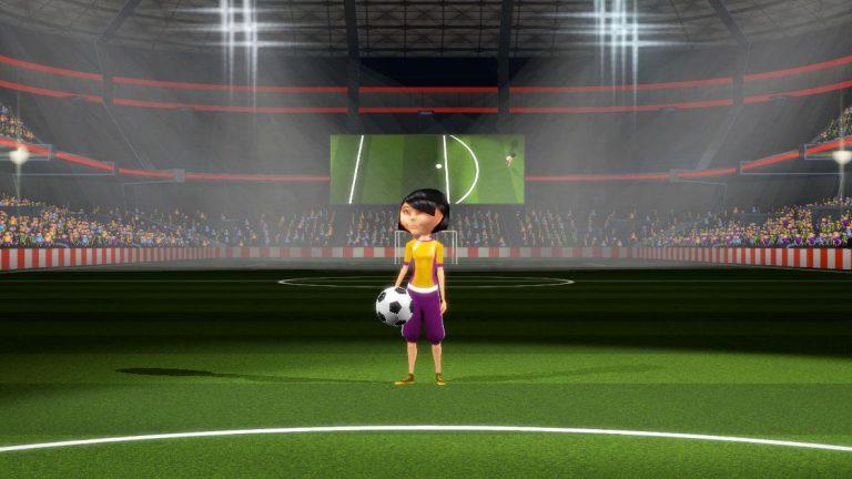 Voetbal interactieve minigame