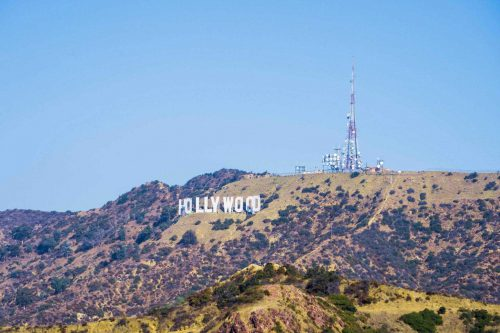 Hollowood sign from Griffith Observatory Los Angeles, CA