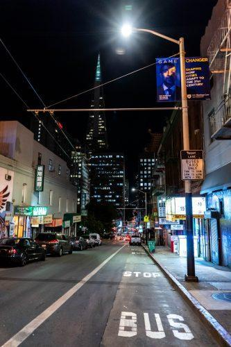 San Francisco China town in de avond