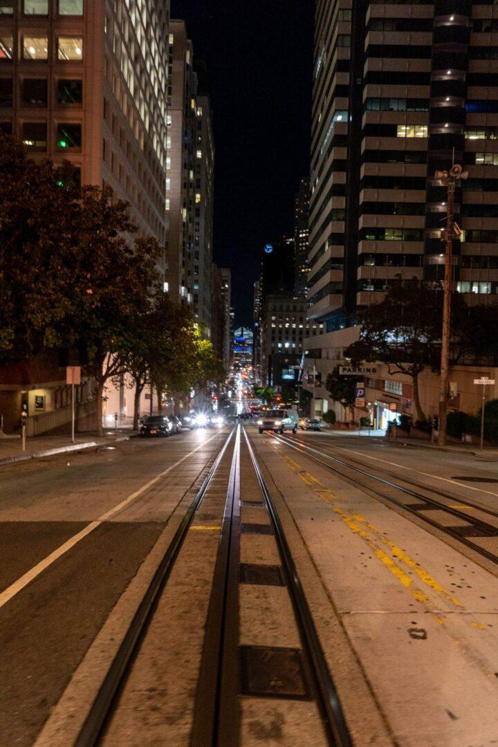 San Francisco Heuvels in de avond