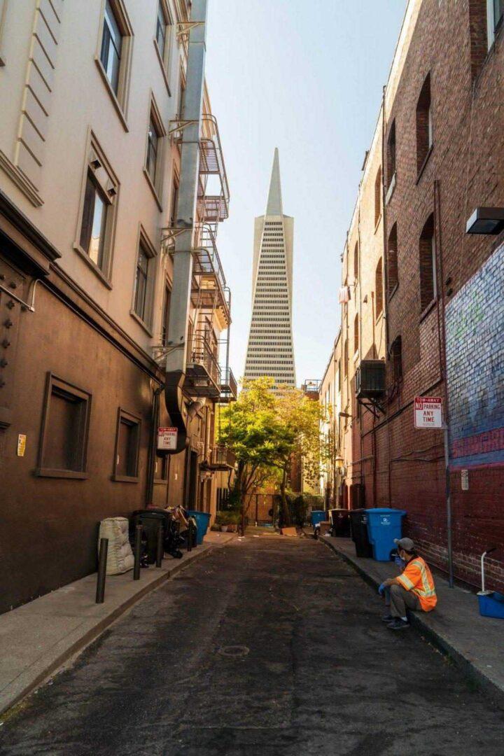 Transamerica Pyramid gebouw in San Francisco
