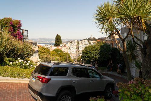 Crooked road, de bochtige weg in San Francisco