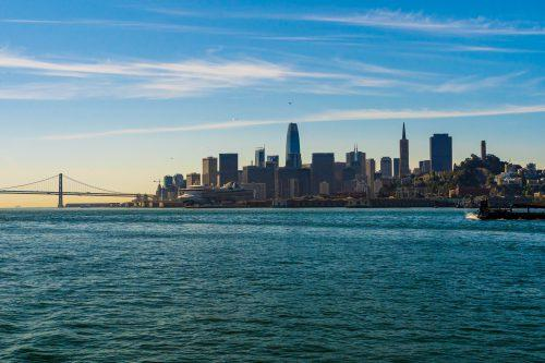 San Francisco Haven met de bay bridge