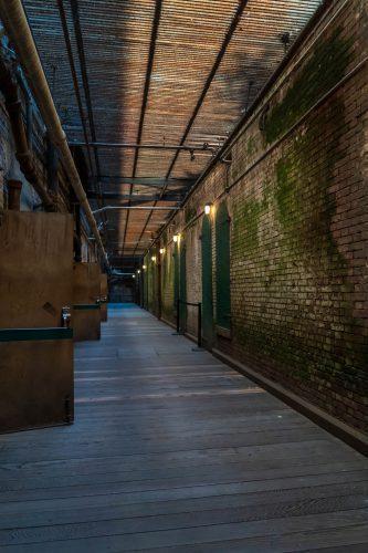 Kelders van Alcatraz waar de voorraden lagen