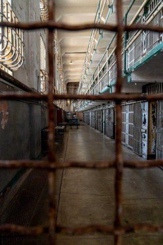 De cellen van Alcatraz gevangenis