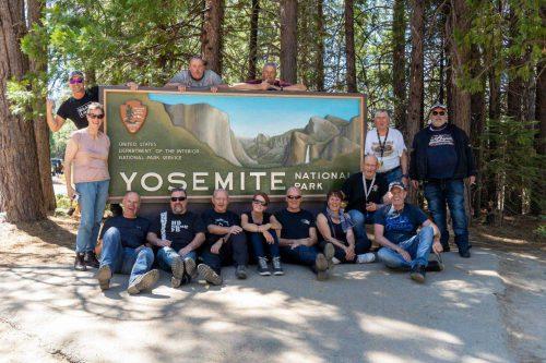 Entreebord Yosemite National Park Route66 Reizen