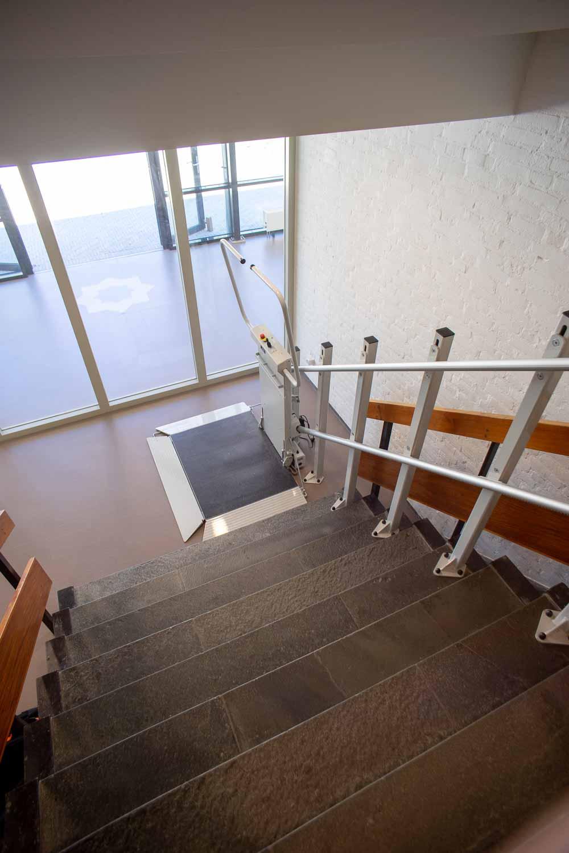 Rolstoel traplift productfoto bovenaanzicht