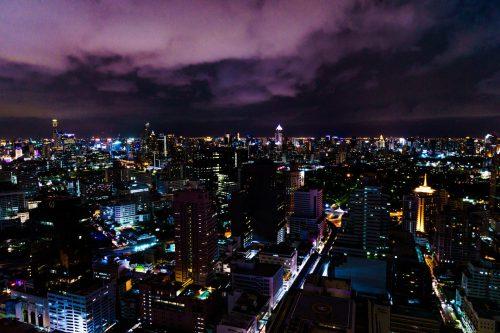 Avond zicht over Bangkok