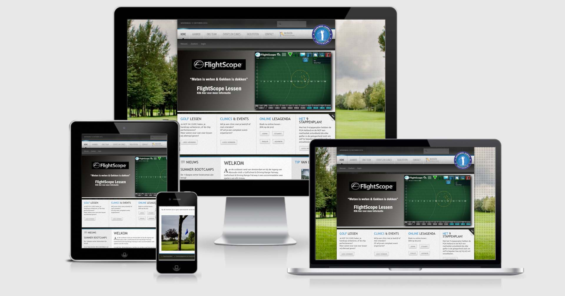Golfschool Fairway website