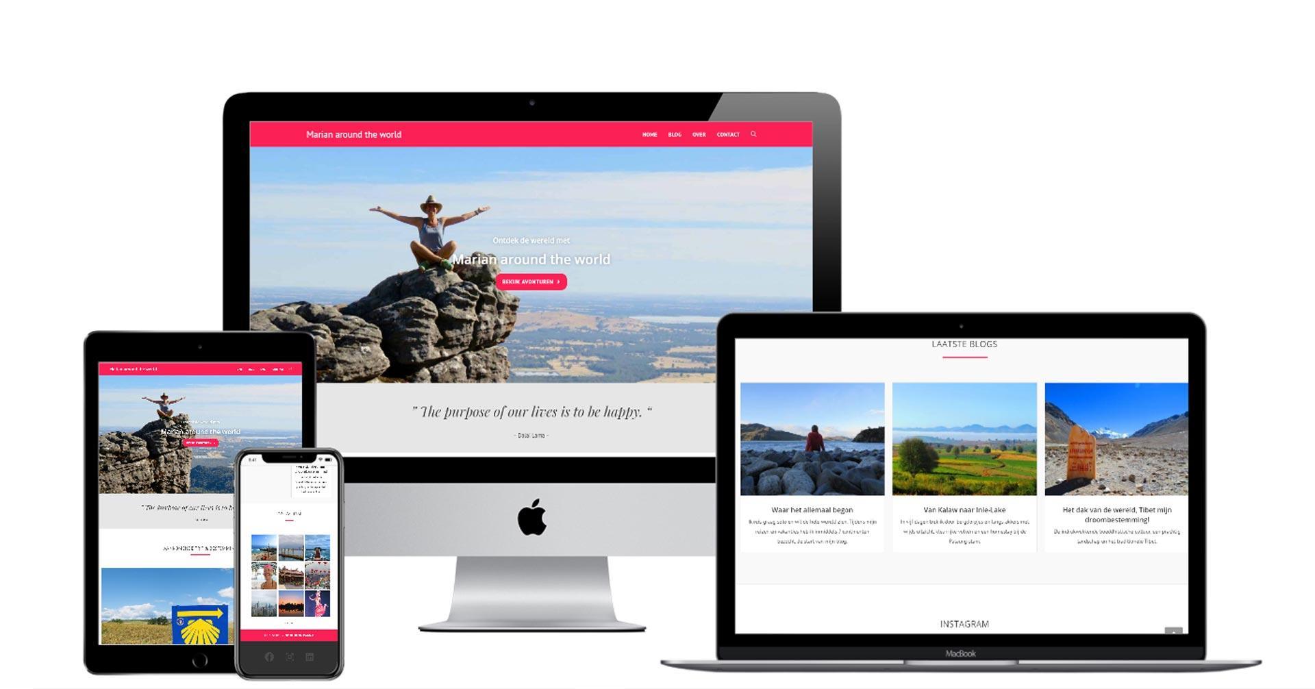 Blog en reiswebsite van Marian around the world