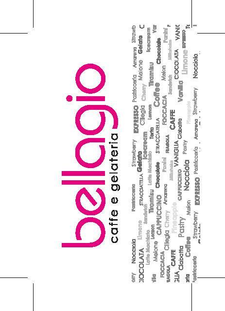 Bellagio visitekaartje achterkant
