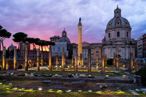 Ancient city centre rome