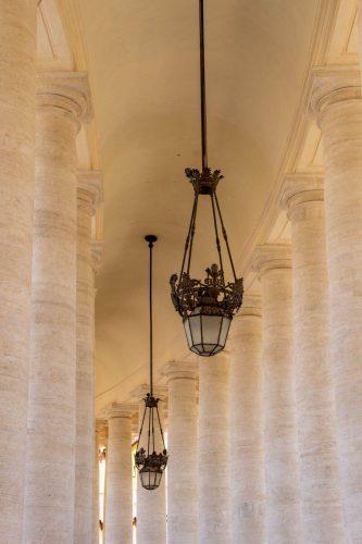 St. peter Vatican lights