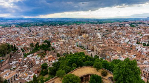 The city from Alhambra