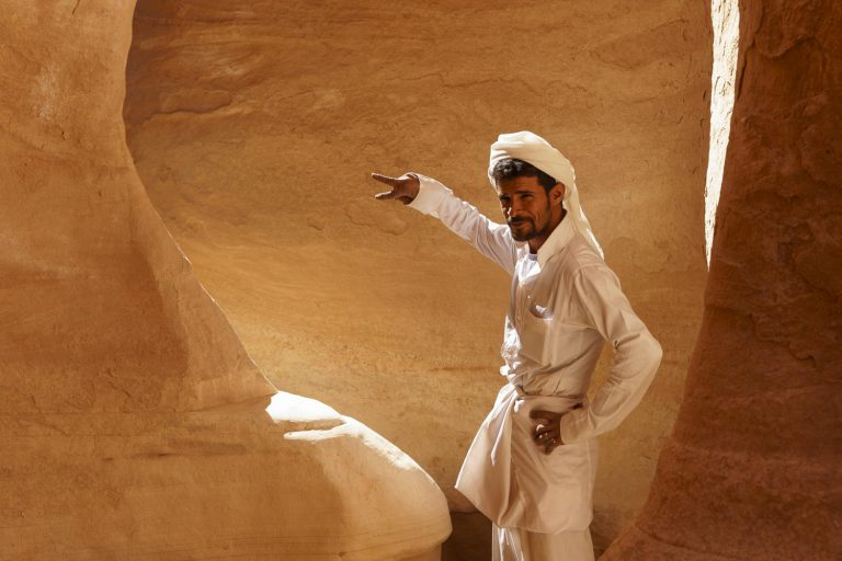 Guide in the white canyon Sinai
