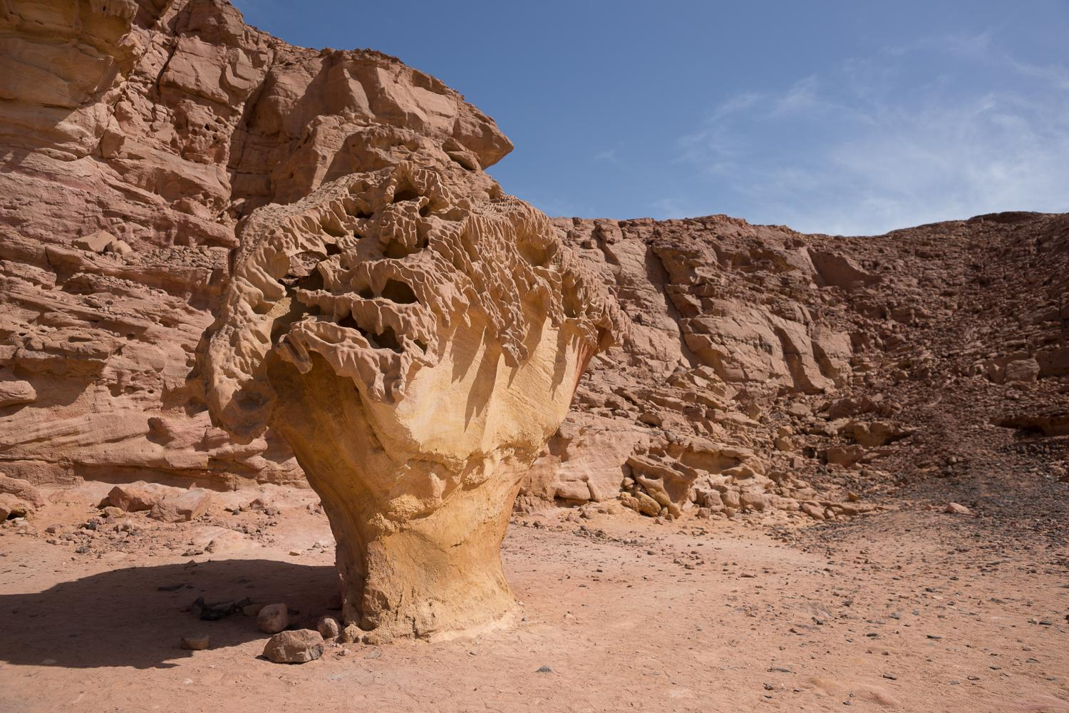 Beautiful rock formation in the sinai desert