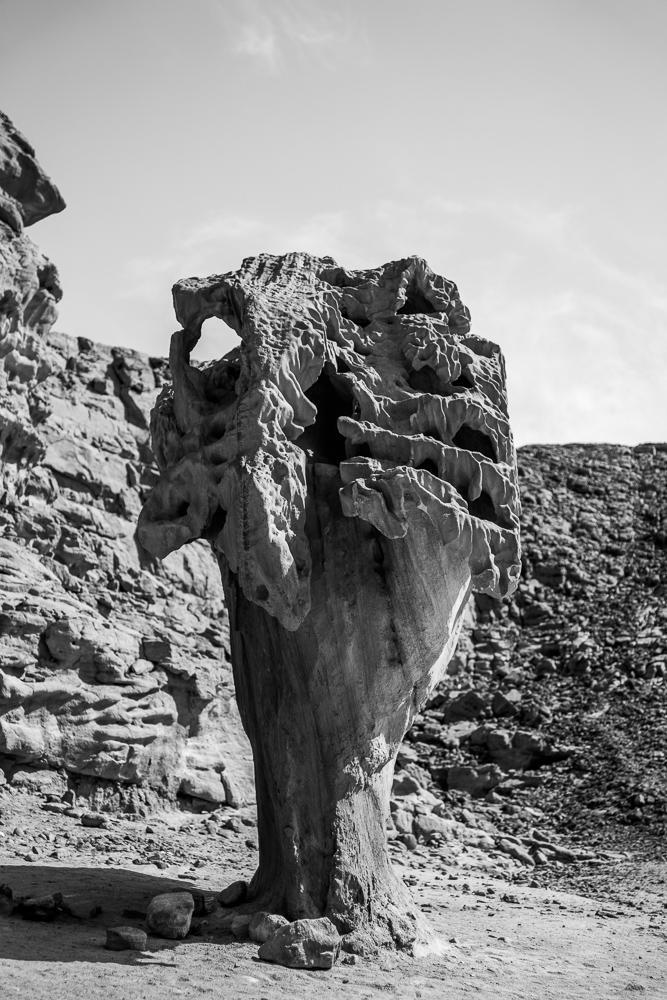 Beautiful rock formation in the sinai desert