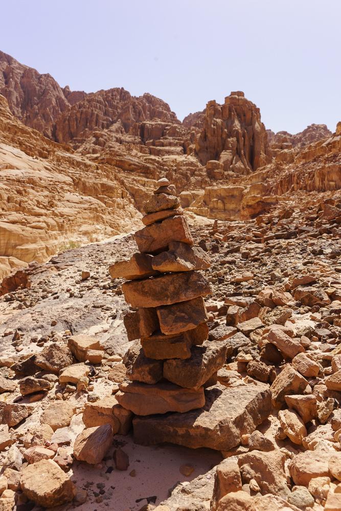 stapel stenen in Sinaï