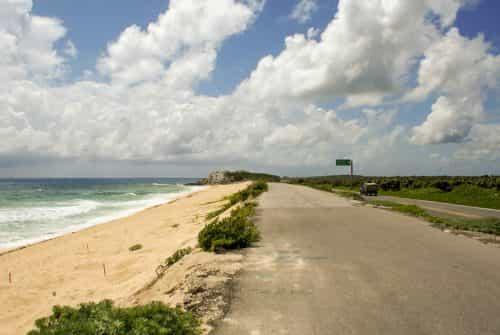 Cozumel wegdek met de vele schildpadden die net eieren gelegd hebben op het strand