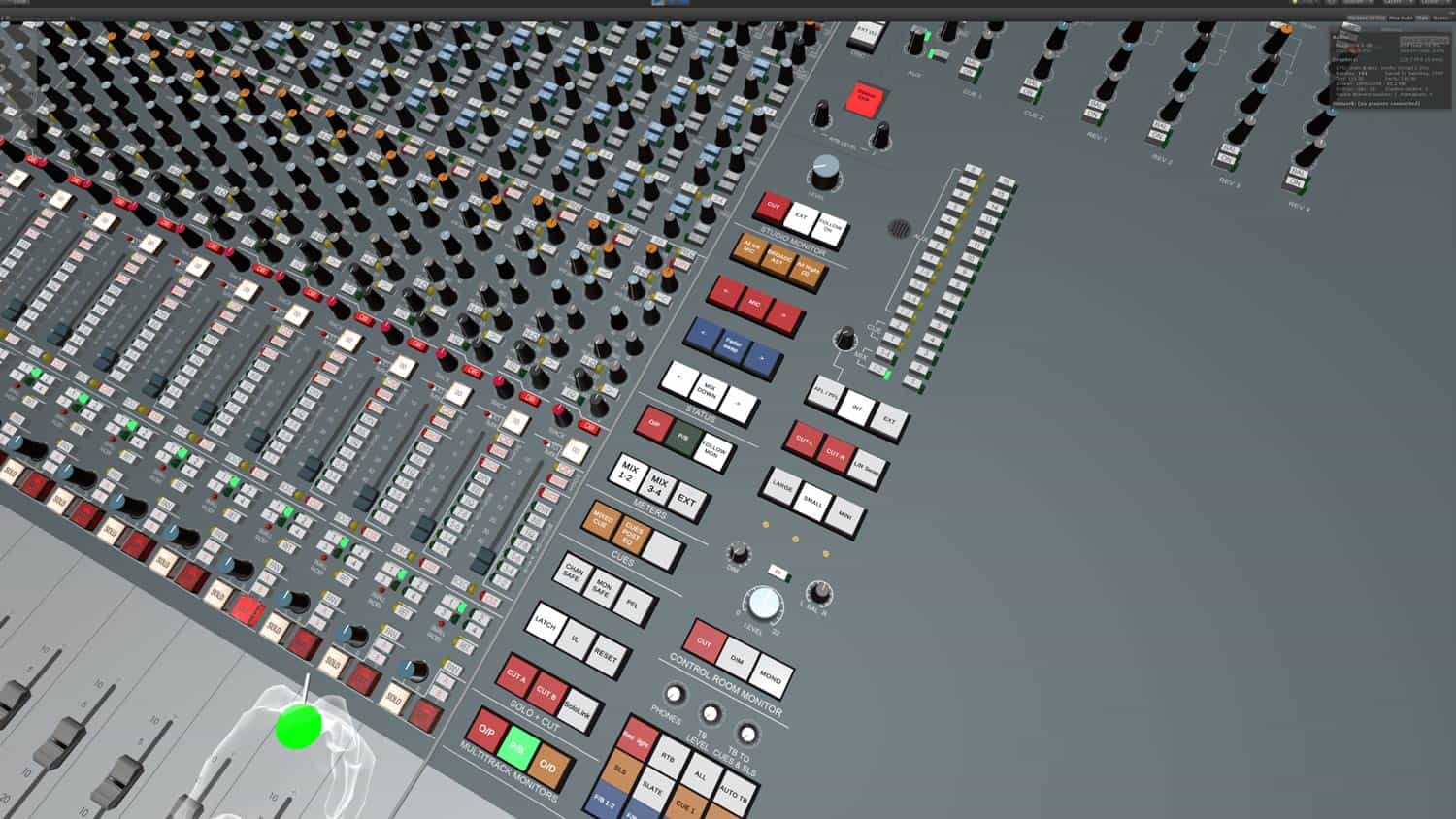 Neve VR console in VR