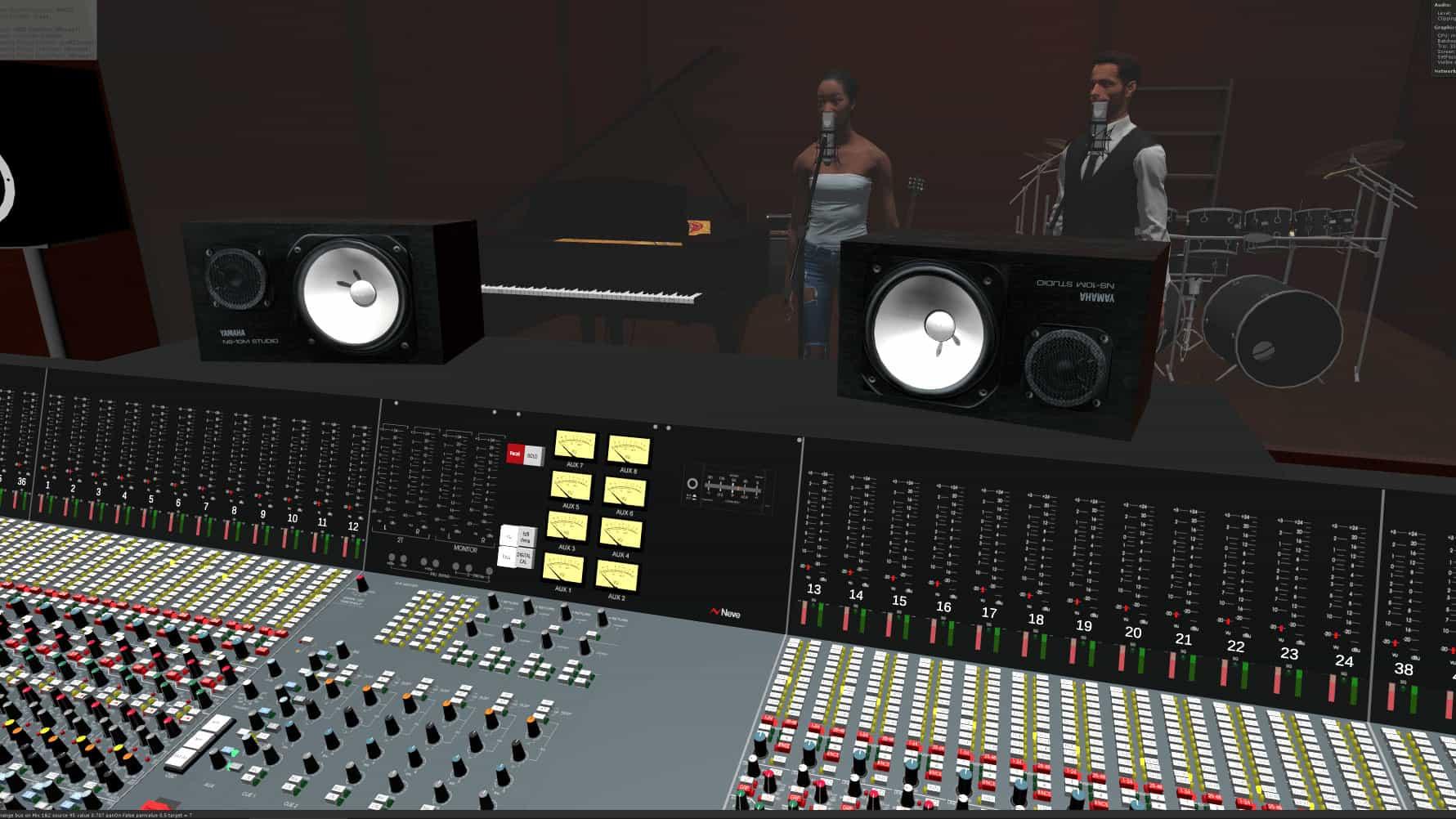 virtual reality recording studio