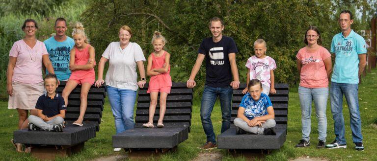 Panorama van de familie