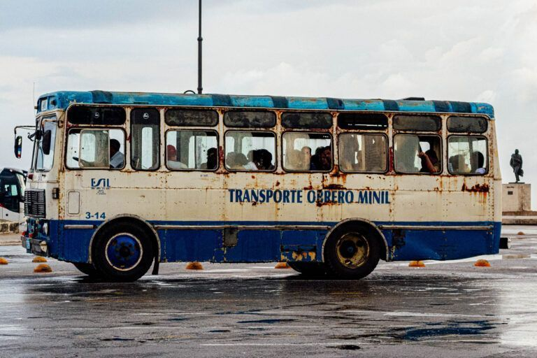 Local bus in havana Cuba