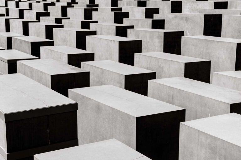 The impressive holocaust memorial in Berlin.