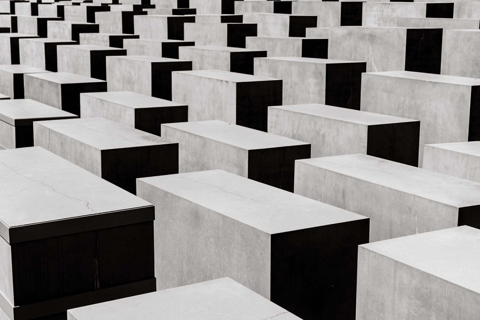 The impressive holocaust memorial in Berlin.