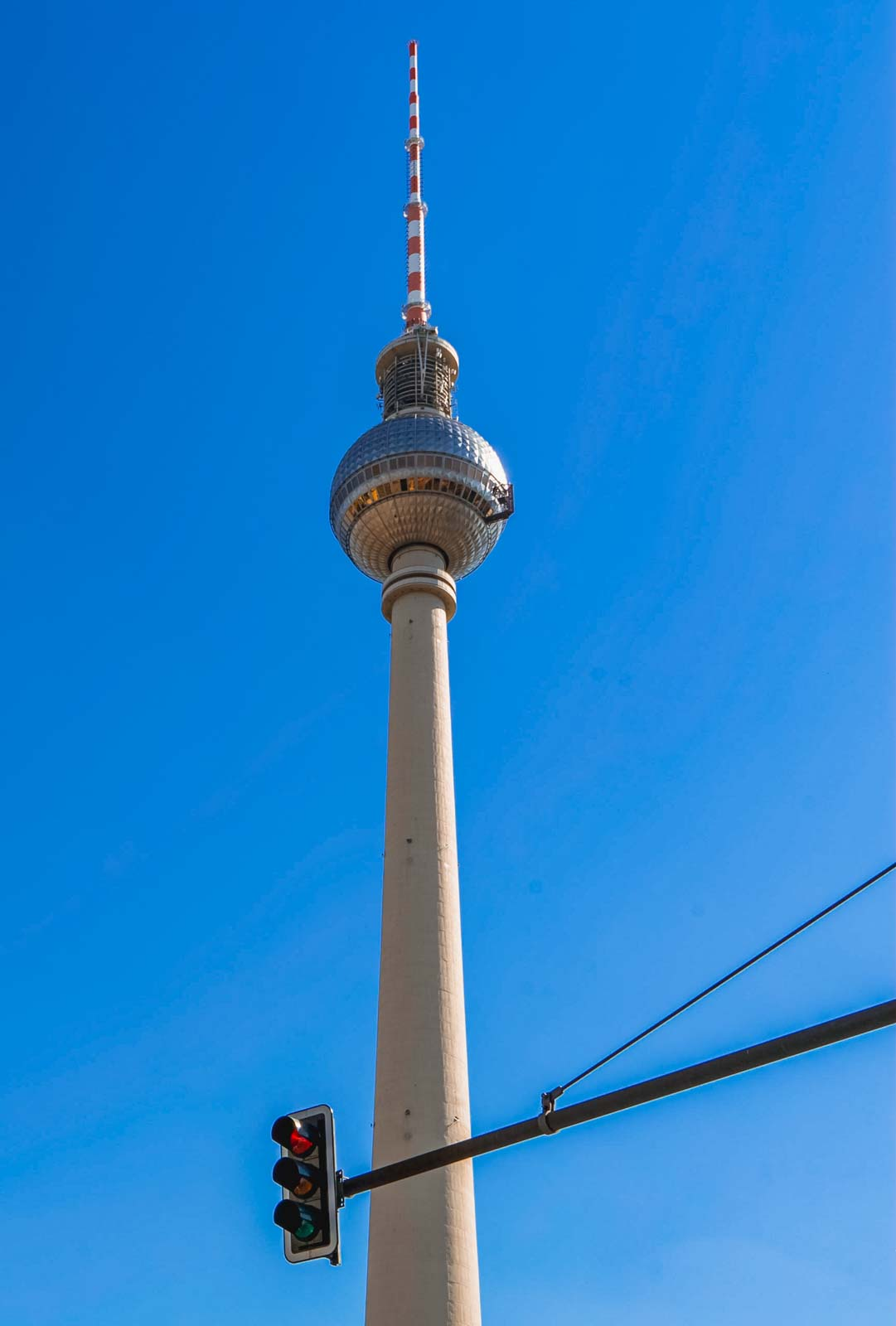 The famous radio / television tower in Berlin, Germany