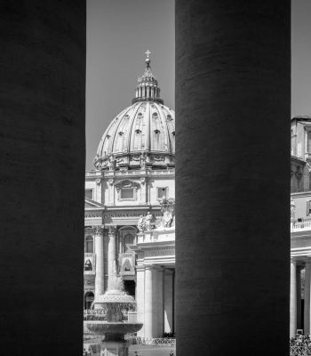 St. peter Vatican black and white
